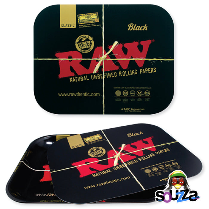 Raw Black Magnetic Rolling Tray Cover  - Multiple Sizes