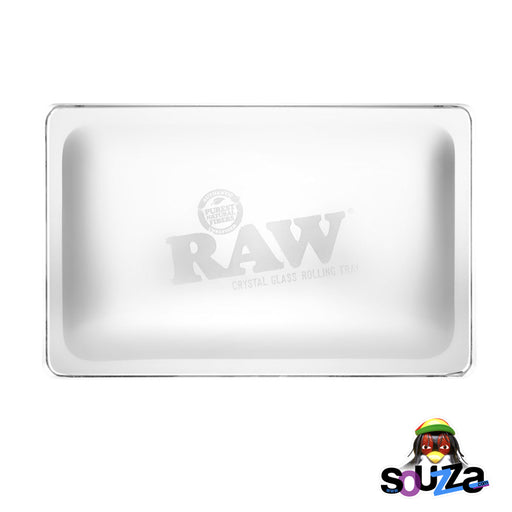 "RAW Lead-free Crystal Glass Rolling Tray - 11"" x 7"""