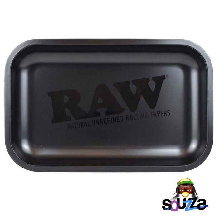 "RAW Rolling Tray | Murder'd Out all black rolling tray by Raw 11"" x 7"""