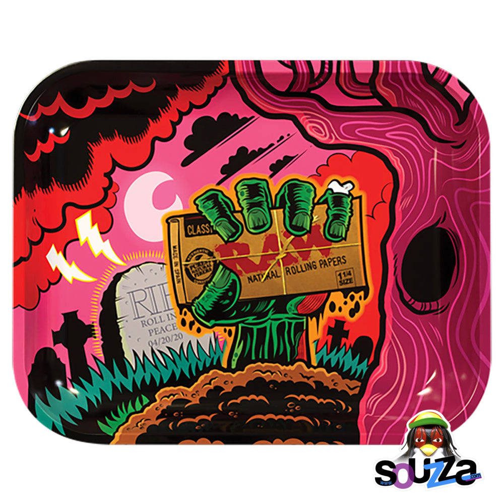 "Raw Zombie Rolling Tray 13"" x 11"" Large"