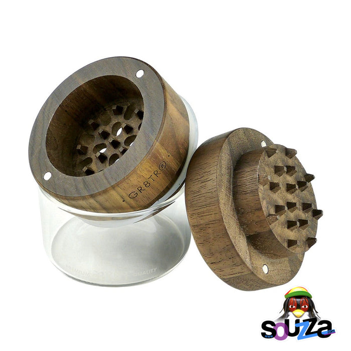 RYOT Wood GR8TR Grinder with Jar - Multiple Styles