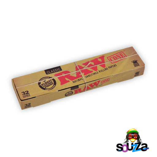 Raw Classic Kingsize Cones - 32 Pack