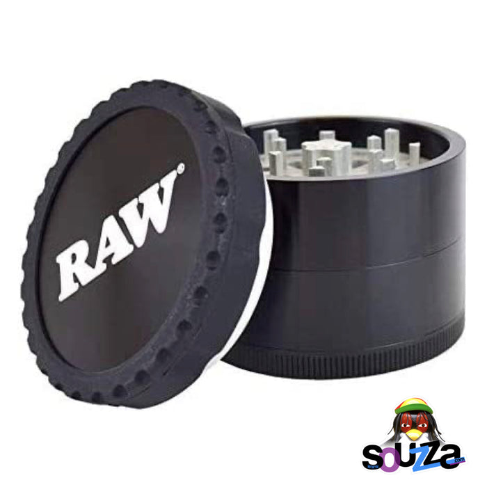 "Raw Life Modular Rebuildable Grinder 2.5"" - Black with top off"