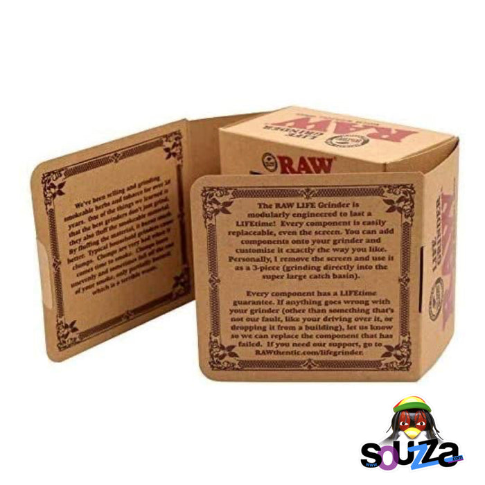 "Raw Life Modular Rebuildable Grinder 2.5"" - BOX"