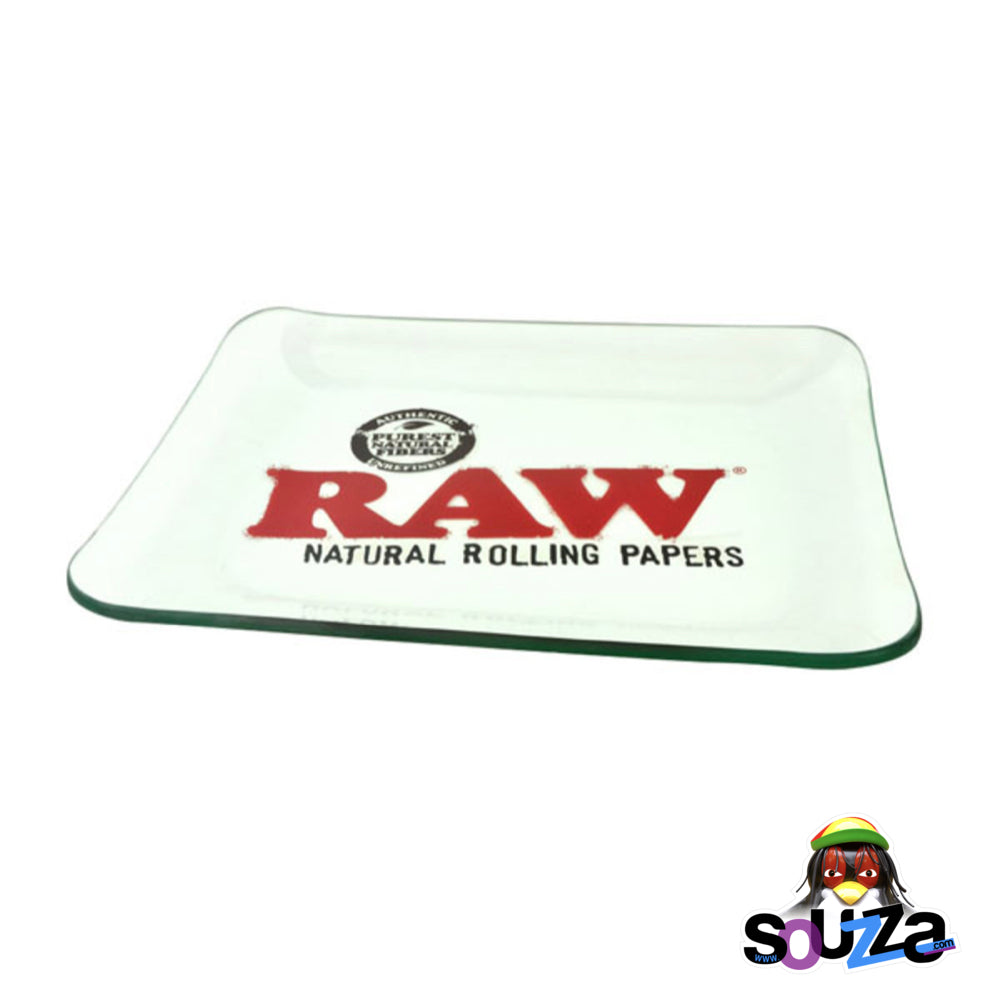 "Raw Limited Edition Glass Rolling Tray - 13""x11"""