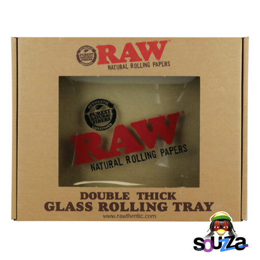 "Raw Limited Edition Glass Rolling Tray - 13""x11"" with nice display  gift box"