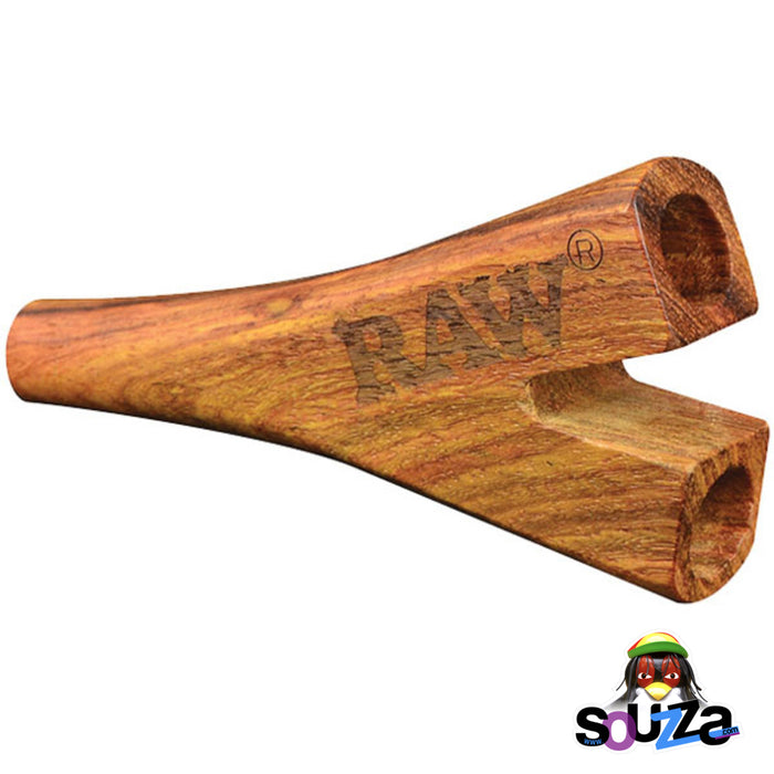 Raw Double Barrel Wooden Cone Holder - Supernatural