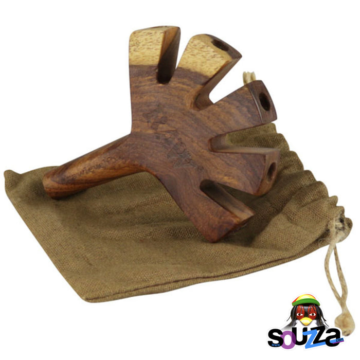 Raw Wooden Cone Holder - Level 5 with Raw carry bag