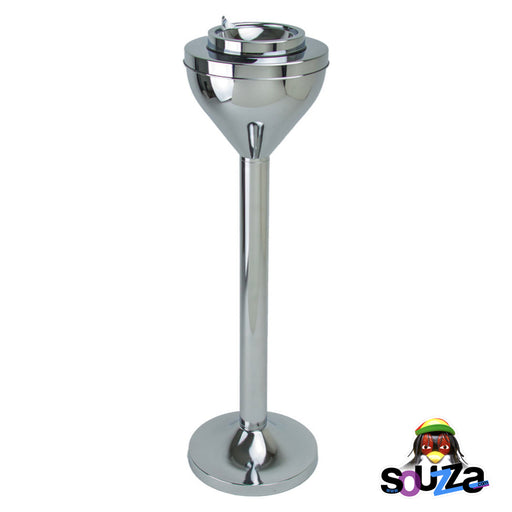 Retro Standing Ashtray | Chrome | 24""