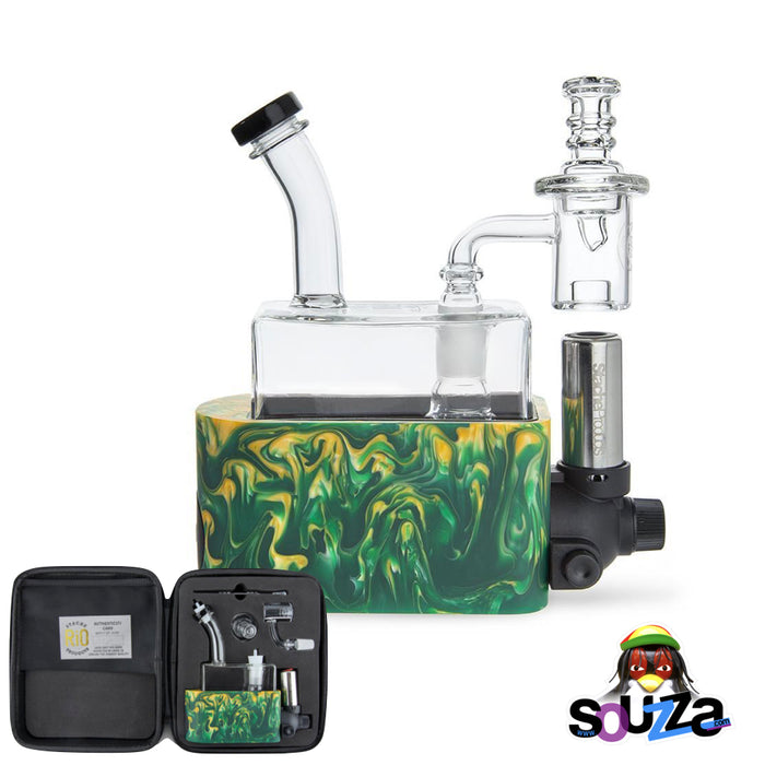 Rig In One (RIO) by Stache Products - Green mix with carrying case
