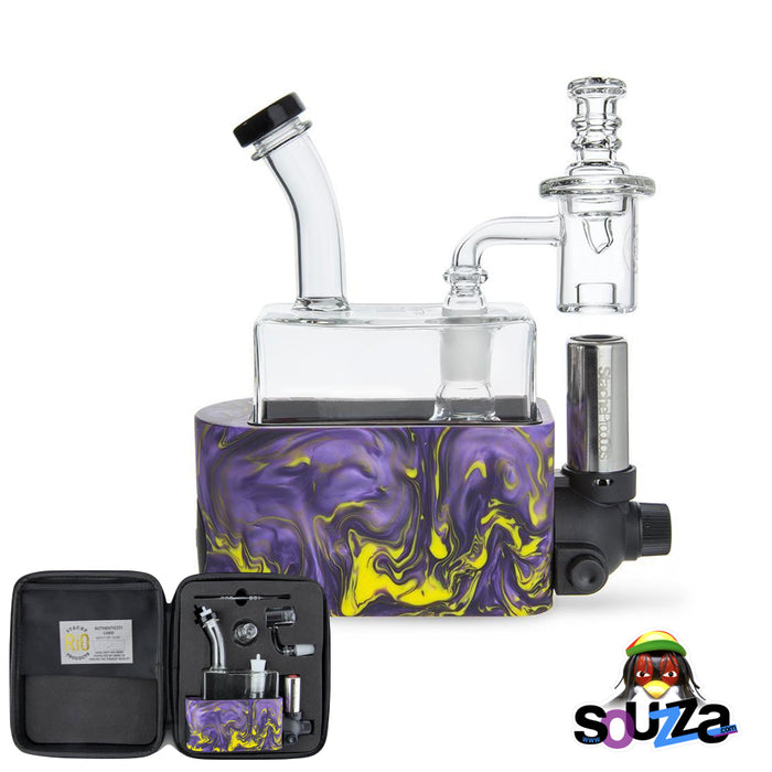 Rig In One (RIO) by Stache Products - Purple mix with carrying case