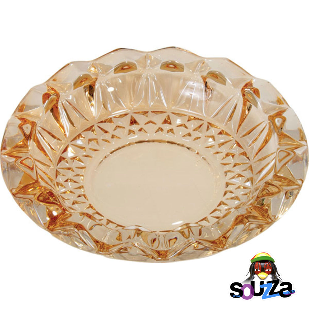 Round Cut Glass Ashtray | 7"