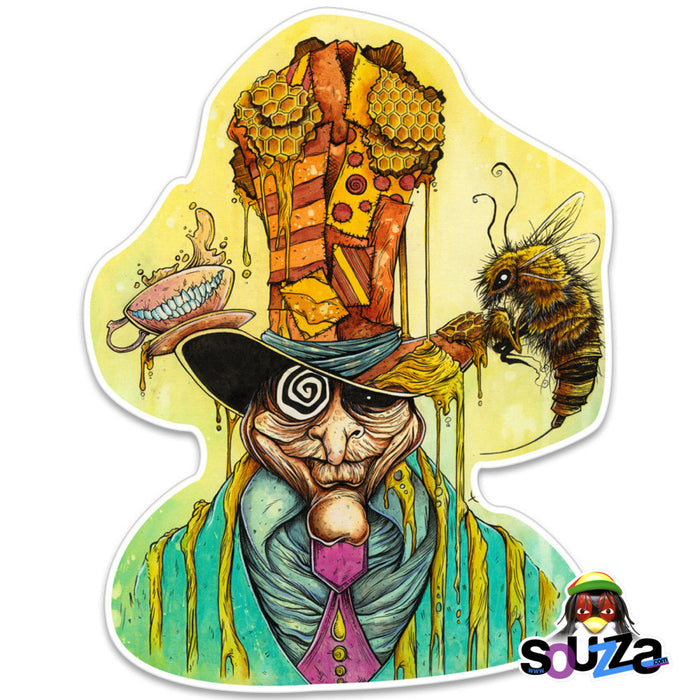 "Sean Dietrich Sticker - Honey Hatter Design 4""x3"""