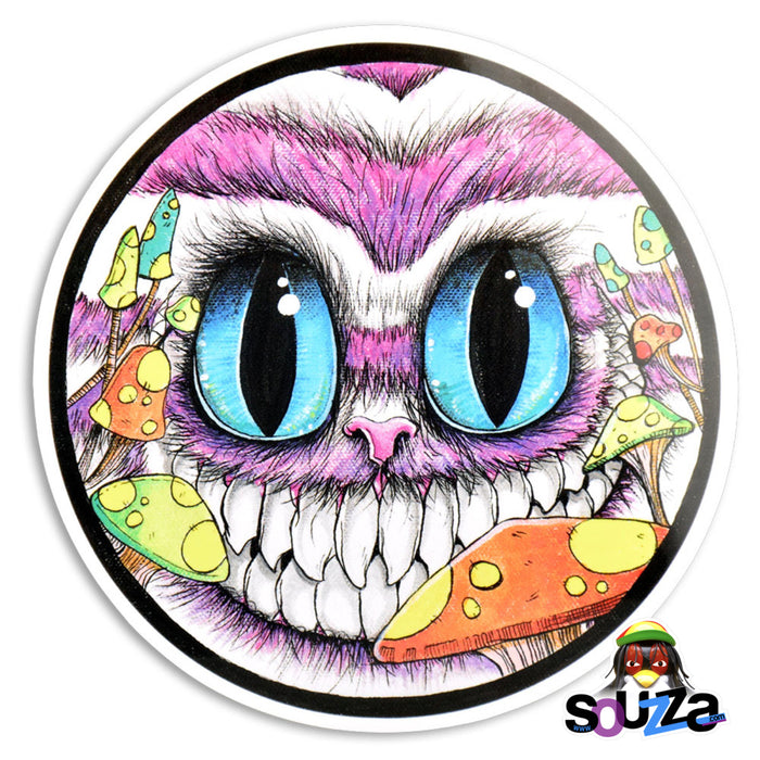 "Sean Dietrich Sticker - Cheshire Cat Design 4"" Round"