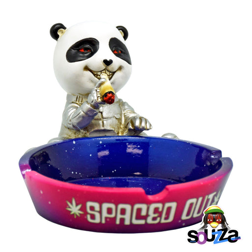 Spaced Out Panda Polyresin Ashtray