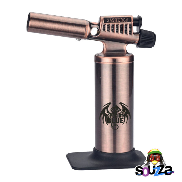 Bronze Special Blue Heavy Metal Butane Torch | 6.5""