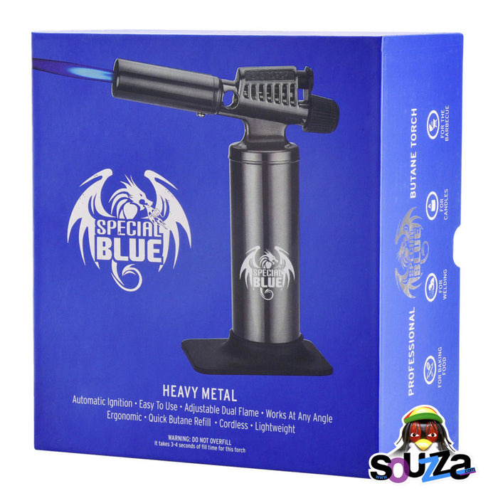 "Special Blue Heavy Metal Butane Torch | 6.5"" Packaging Box"