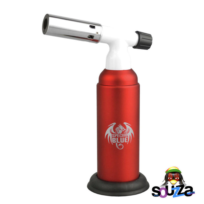 "Special Blue Monster Torch Lighter - 8"" - Red"