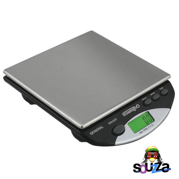 Truweigh General Compact Bench Scale - 3000g x 0.1g / Black