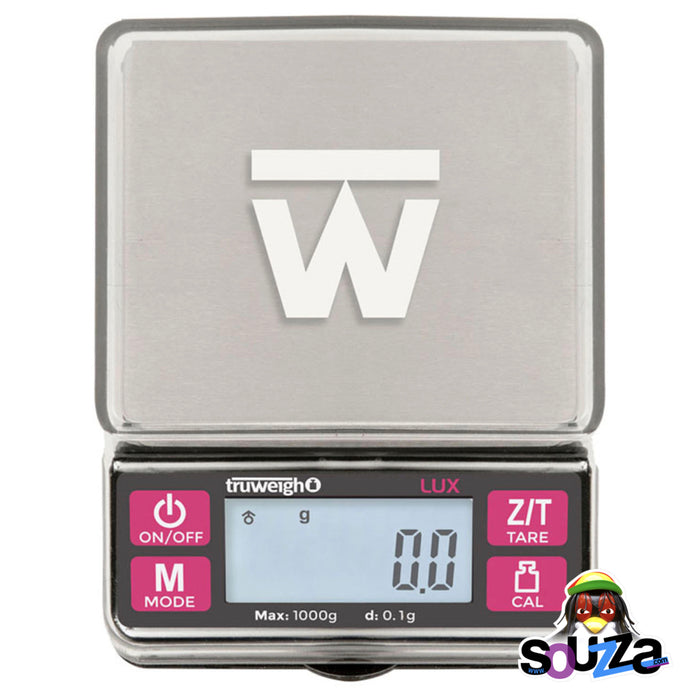 Truweigh Lux Digital Mini Scale - 1000g x 0.1g / Black Bird's eye view