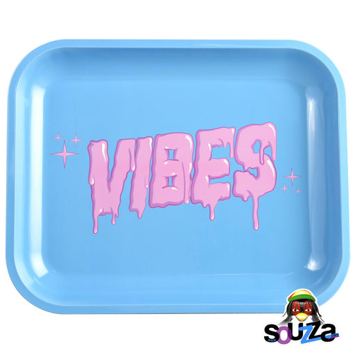"VIBES Bubblegum Drip Rolling Tray - Large 13"" x 11"""