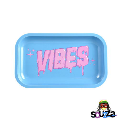 "VIBES Bubblegum Drip Rolling Tray - Medium 11"" x 6"""