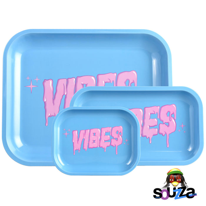 VIBES Bubblegum Drip Rolling Tray - Multiple Sizes