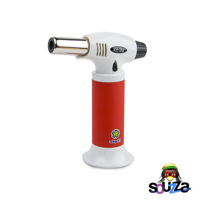 Ion Lite Butane Torch by Whip-It! - Red and White