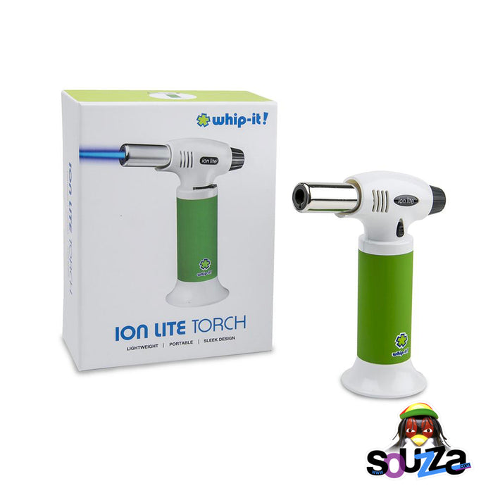 Ion Lite Butane Torch by Whip-It! - Green and White with Box