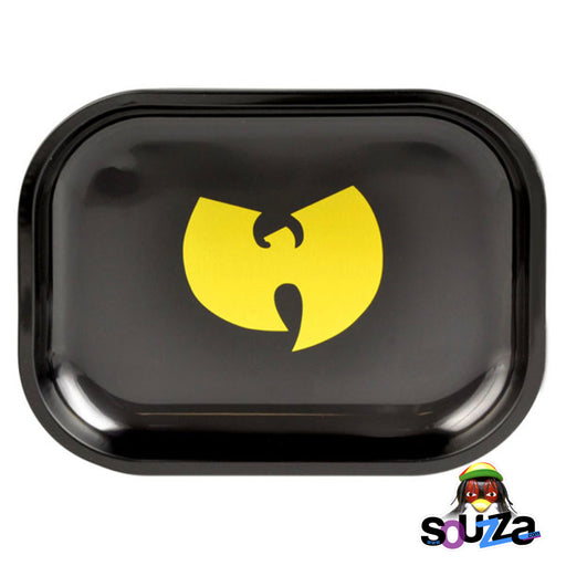 "Wu Tang Metal Rolling Tray - 7""x5.5"" Black and Yellow"