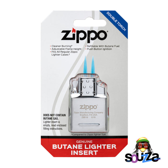 Zippo Butane Lighter Insert Double Flame Blister Pack