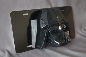 Star Wars Darth Vader  License Plate 3D Low Poly