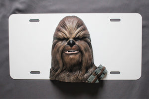 Star Wars Chewbacca License Plate 3D