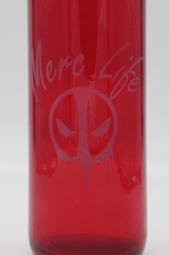 Deadpool Etched 750ml Wine Bottle Merc Life