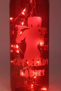 Harley Quinn Etched Wine Bottle Birds of Prey