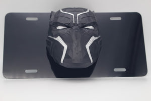 Black Panther Avengers License Plate 3D Low Poly and 2D etched