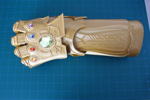 Infinity Gauntlet Silk Gold and Red  / Infinity Gem Stones / Endgame / Infinity War / Thanos