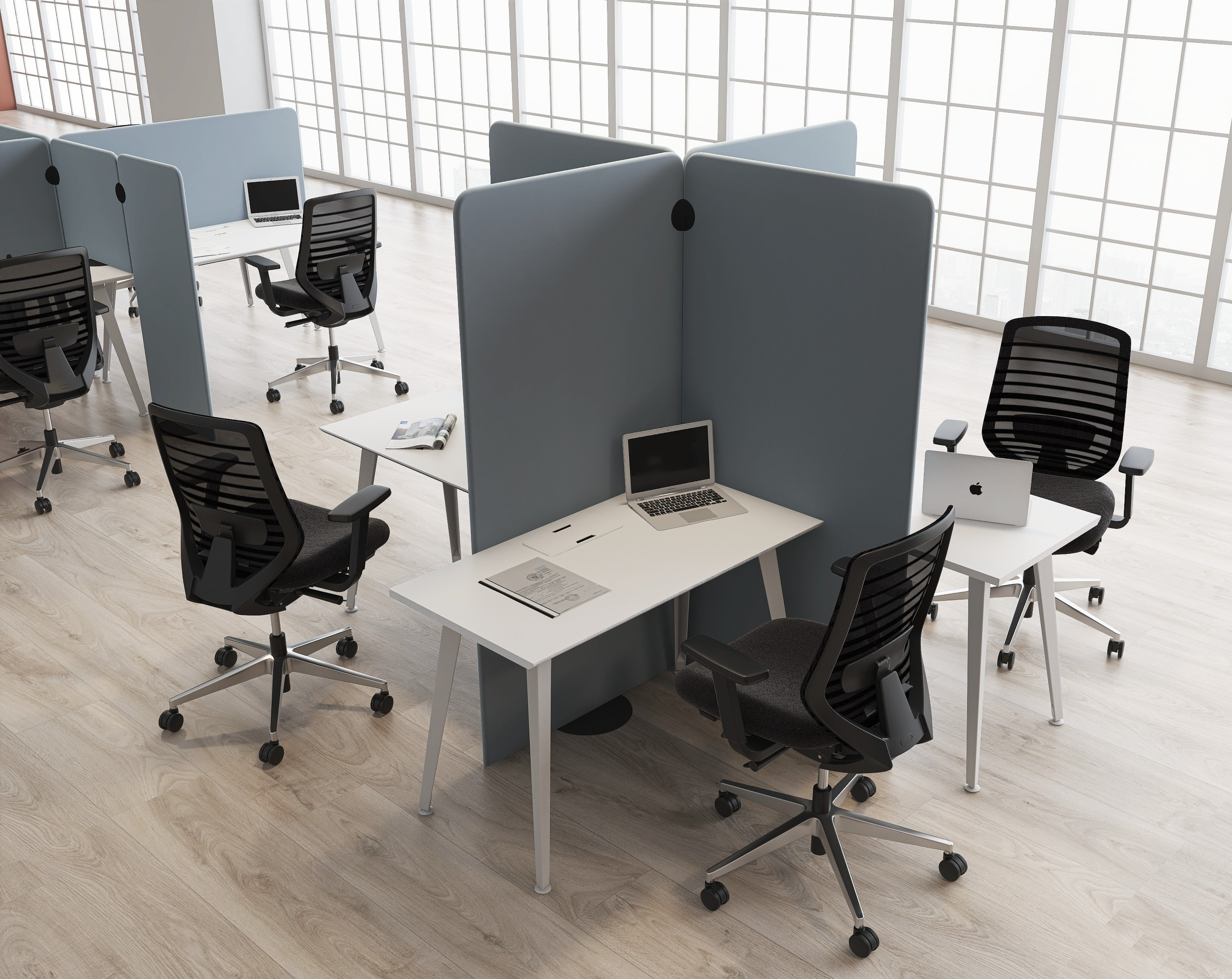 Branch office privacy panels