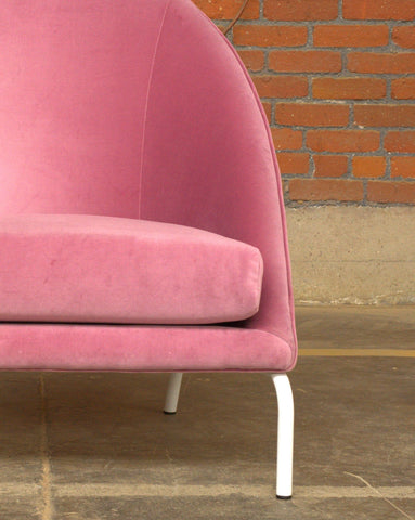 Close up of pink Bend Chair for high-use environments