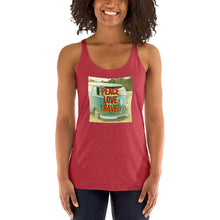 Load image into Gallery viewer, Peace Love Travel Racerback Tank