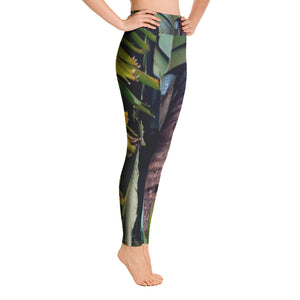 Exotic Palm Print Yoga Leggings