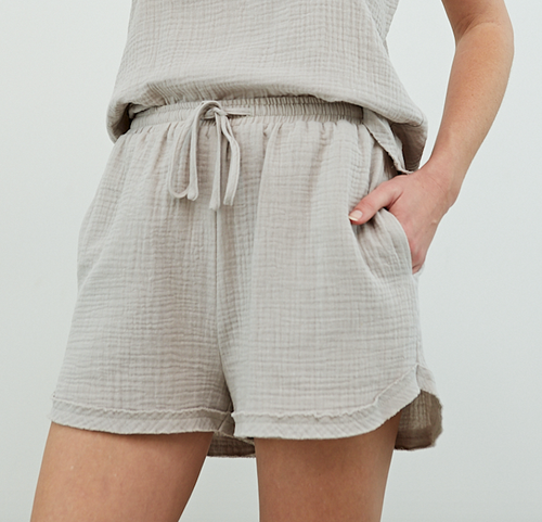 Cotton Gauze Shorts