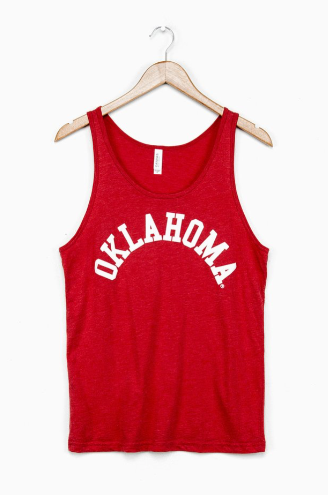 Oklahoma Flocked Tank