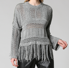 Load image into Gallery viewer, Fringe Hem Sweater