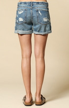 Load image into Gallery viewer, Distressed Denim Short