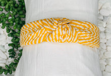Load image into Gallery viewer, Embroidered Headband - Mustard
