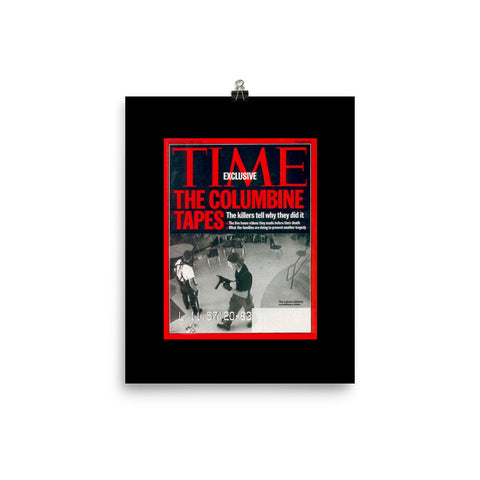 Time magazine The columbine tapes Poster - True crime shop
