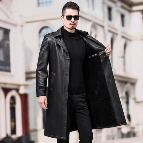 Long Leather Trench Coat - True crime shop