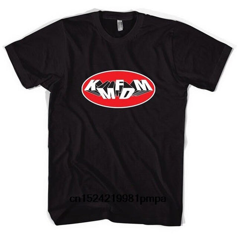 KMFDM Oval Logo T-shirt - True crime shop