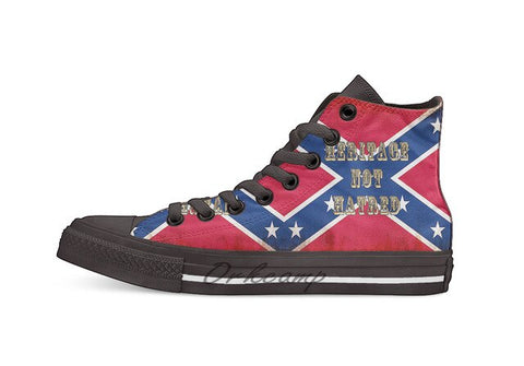 Heritage Not Hatred Confederate Flag sneakers - True crime shop